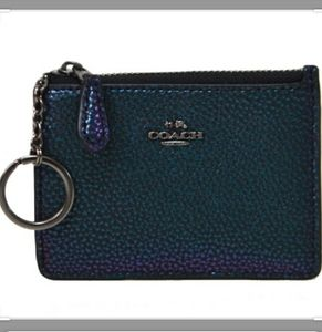 Beautiful COACH Green/Purple Hologram Mini Skinny